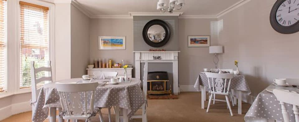 The Breakfast Room and Fireplace at Alverstone B&B Sheringham