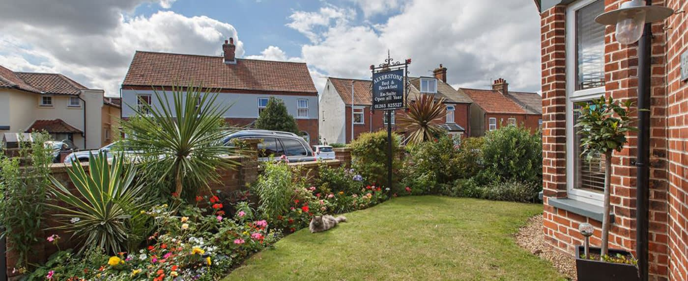 The Front Garden at Alverstone B&B in Sheringham